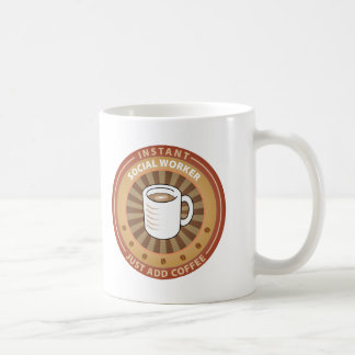 Sofortiger Sozialarbeiter Kaffeetasse