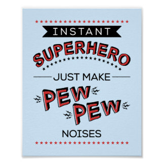 Sofortiger Superheld:  Machen Sie BANK-BANK Poster