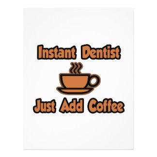 Sofortiger Zahnarzt… addieren gerade Kaffee Flyer