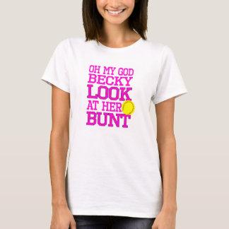 Softball-Bauch-T - Shirt