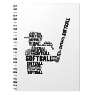 Softball-Fan-Softball-Mamma-Jugend-Kind Spiral Notizblock