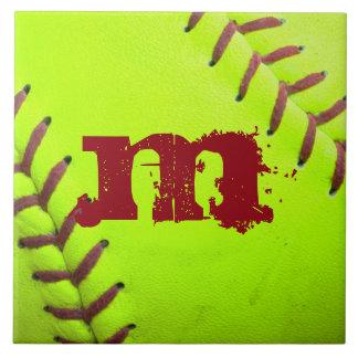 Softball-gelbe schnelle keramikfliese
