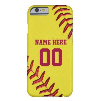 Softball iPhone 6 Hüllen mit Ihrem NAMEN und ZAHL
