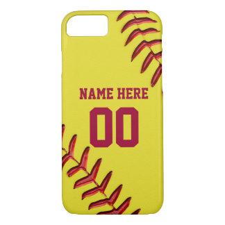 Softball iPhone 7 Hüllen mit Ihrem NAMEN und ZAHL