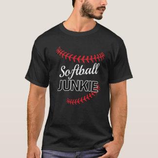 Softball-Junkie-grafischer lustiger Sport-T - T-Shirt