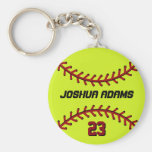 Softball Keychain für Sport-Fans und Athleten Standard Runder Schlüsselanhänger