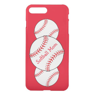 Softball-Mamma-rotes Weiß trägt iPhone 7 Plusfall iPhone 8 Plus/7 Plus Hülle