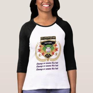 Softball-Meister Vorder-Zurück T-Shirt