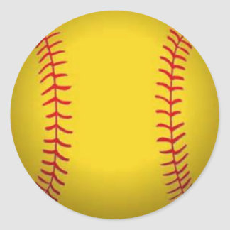 Softball Runder Aufkleber