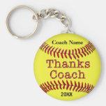 Softball-Trainer-Geschenk-Ideen mit NAMEN und JAHR Standard Runder Schlüsselanhänger