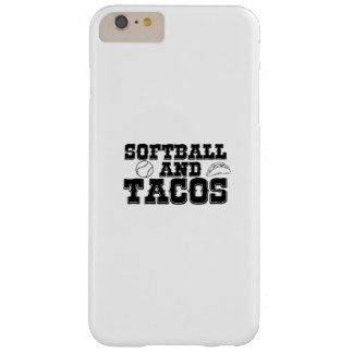 Softball und Tacos-lustiges beunruhigtes lustiges Barely There iPhone 6 Plus Hülle