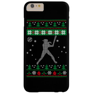 Softball-Weihnachten Barely There iPhone 6 Plus Hülle
