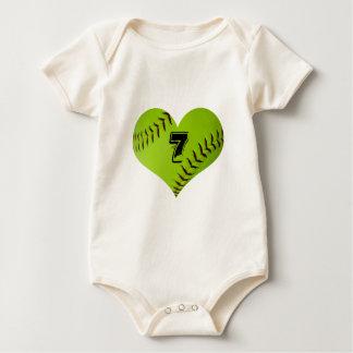 Softballherzbaby-Körper-Anzug Baby Strampler