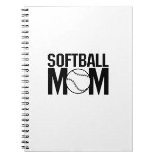 Softballmamma lustiges Geschenk für Frauen Notizblock