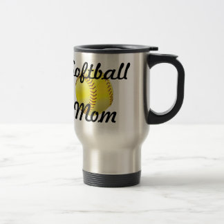 Softballmamma mit Ball Reisebecher
