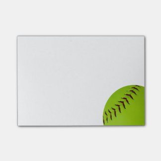 Softballpost-itanmerkungen Post-it Klebezettel