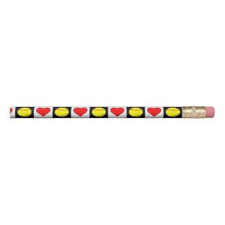 Softballs u. Herzen niedlicher Fastpitch Bleistift 1