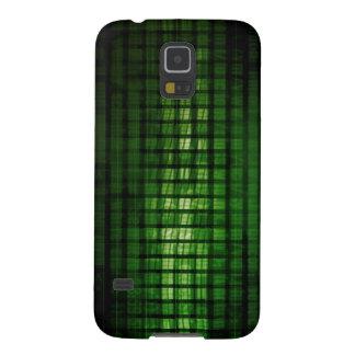 Software-Lösung mit unscharfem Code abstraktes Samsung Galaxy S5 Hüllen