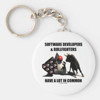 SoftwareentwicklerBullfighters haben gemeinsam Schlüsselanhänger