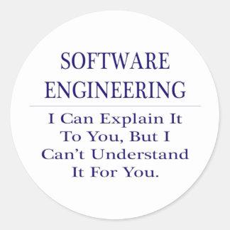 Softwaretechnik. Erklären Sie nicht zu verstehen Runder Aufkleber
