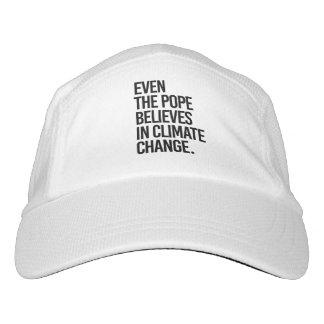 Sogar glaubt der Papst an Klimawandel - - Pro Headsweats Kappe