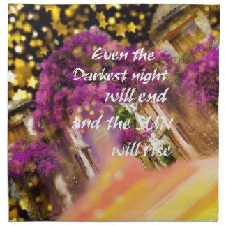 Sogar im dunkelsten Moment ist der Glaube nicht Stoffserviette