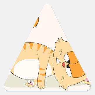 Sogar Katze hasst Montag Dreieckiger Aufkleber