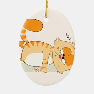 Sogar Katze hasst Montag Keramik Ornament