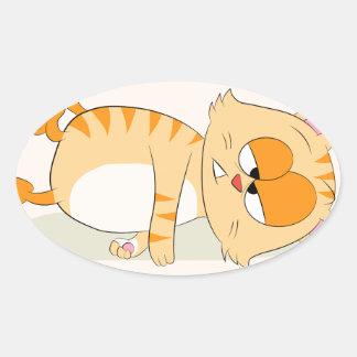 Sogar Katze hasst Montag Ovaler Aufkleber