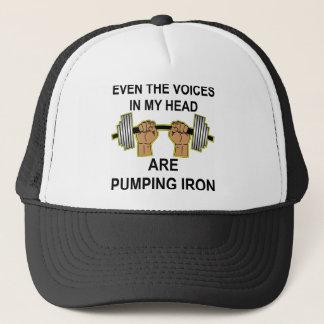 Sogar pumpen die Stimmen in meinem Kopf Eisen Truckerkappe