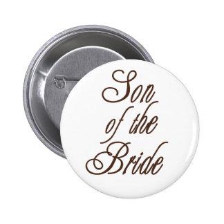 Sohn des Braut-noblen Brauns Runder Button 5,1 Cm