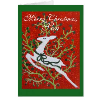 Sohn, Weihnachtskarte Karte