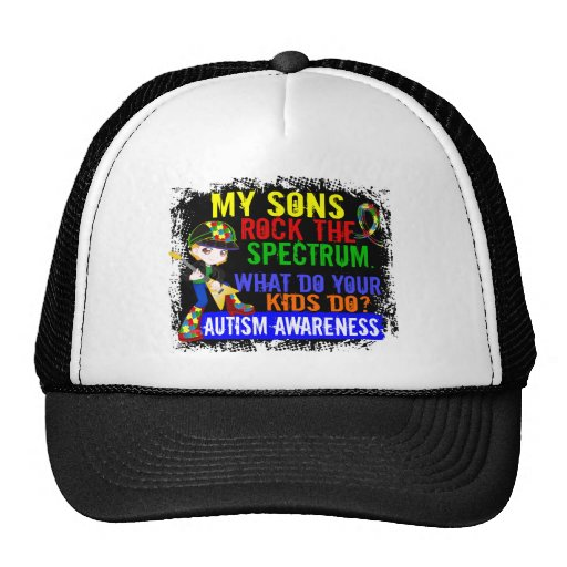 Söhne schaukeln den Spektrum-Autismus Netzkappe