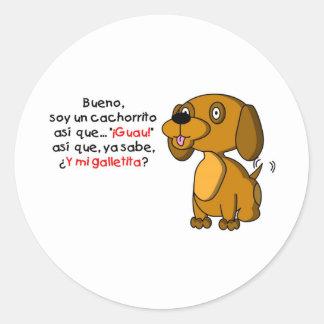 Sojabohnenöl-UNO cachorrito Runder Sticker