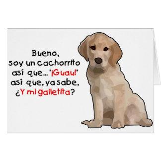 Sojabohnenöl-UNO cachorrito Grußkarte