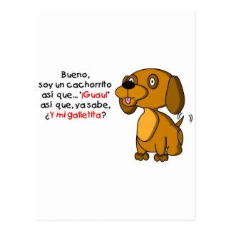 Sojabohnenöl-UNO cachorrito Postkarten