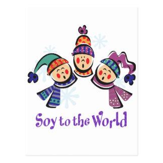 Sojabohnenöl zum Weltfeiertag Postkarte