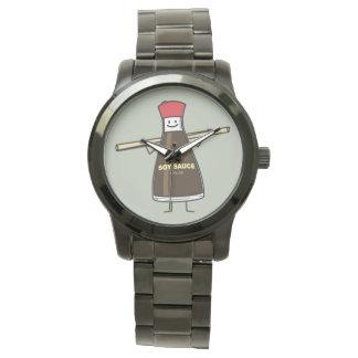 Sojasoßen-Flaschenwürze- Asiatsessstäbchen Uhr