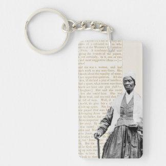 Sojourner-Wahrheit - die Rechte der Frauen Beidseitiger Rechteckiger Acryl Schlüsselanhänger