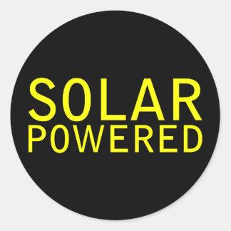 Solar angetrieben runder aufkleber