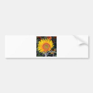 Solare Energie der Sonnenblume Autoaufkleber