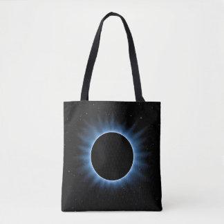Solareklipse ganz vorbei - drucken Sie Tasche