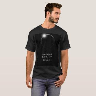"""Solareklipse-""""ich überlebte Gesamtheits-"""" T-Shirt"""