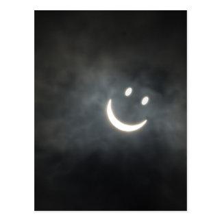 Solareklipse-Smiley Postkarte