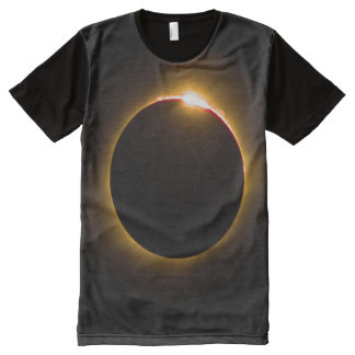 Solareklipse-voller Druck-T - Shirt