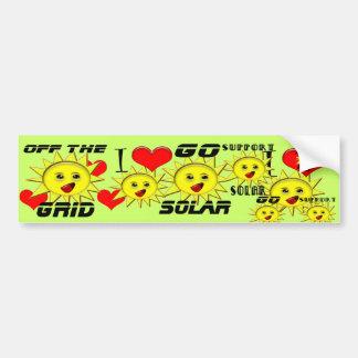 SolarPower-Geschenke und fördernder Produkt-T - Autoaufkleber