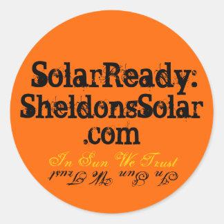 SolarReady: SheldonsSolar.com Runder Aufkleber