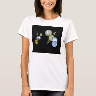 Solarsystems-Damen-Baby - Puppe Astronomie-T - T-Shirt