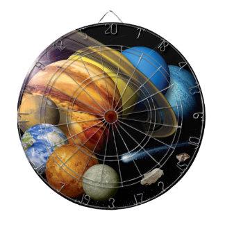 Solarsystems-Planetenmontage-Raum-Fotos der NASAs Dartscheibe