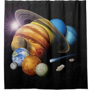 Solarsystems-Planetenmontage-Raum-Fotos der NASAs Duschvorhang